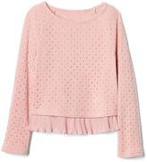 Gap Shimmer ruffle-trim pullover