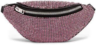 Alexander Wang Attica Soft Mini Rhinestone Fanny Crossbody Bag in Rose   FWRD