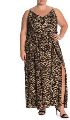 City Chic Leopard Love Maxi Dress (Plus Size)