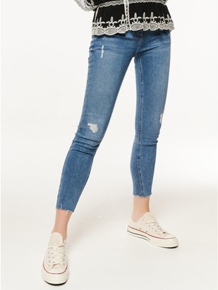 M&Co Mid wash ripped skinny jeans