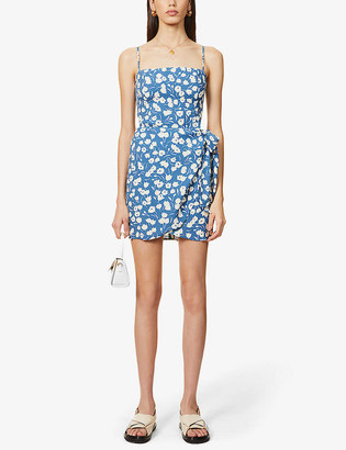 Reformation Canal floral-print woven mini dress