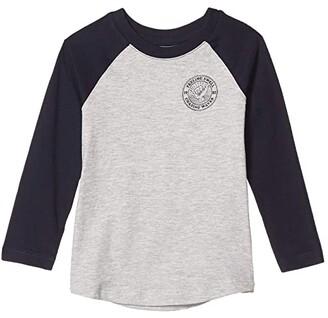 Cotton On Tom Long Sleeve Raglan Tee (Little Kids) (White/Rubber Rebel) Boy's Clothing