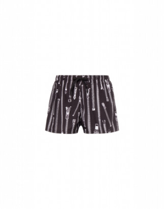 Moschino Zip Beach Boxer Man Black Size L It - (m Us)