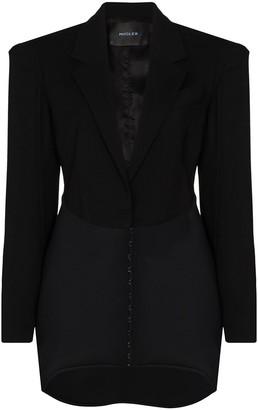 Thierry Mugler Dropped-Hem Mini Blazer Dress