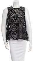 Rachel Zoe Sleeveless Patterned Top w/ Tags