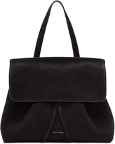 Mansur Gavriel Black Suede Mini Lady Bag