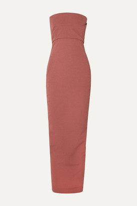 Rick Owens Strapless Cotton-blend Crepe Gown - Antique rose