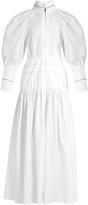 Ellery Sword bubble-sleeved cotton maxi dress