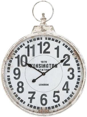 Willow Row Black/White Traditional Kensington Wall Clock