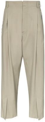 Bed J.W. Ford Slit-Hem Straight-Leg Trousers