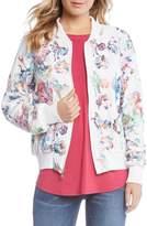 Karen Kane Embroidered Floral Bomber Jacket