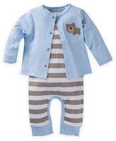 Gerber 2-Piece Organic Cotton Bear & Stripe Coverall and Cardigan Set