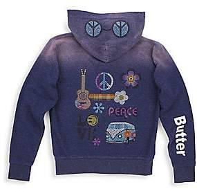 fcd7bed58 Butter Shoes Little Girl's & Girl's Embellished Zip Hoodie