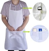 Chef Apron Unisex Chefs Butchers Home Kitchen Cookware Apron Plain Apron with Front Pocket by WearHome (TM) (1Pack)