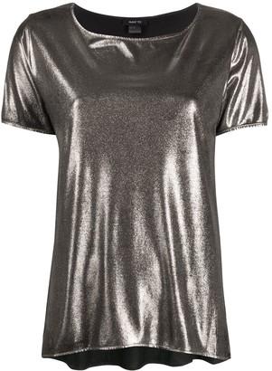 Avant Toi metallic finish T-shirt