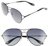 Givenchy Women's 56Mm Aviator Sunglasses - Gold