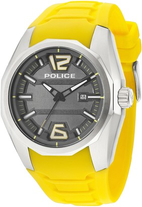 Police Men's PL.94764AEU/13 Quartz Watch with Grey Dial Analogue Display and Silicone Strap