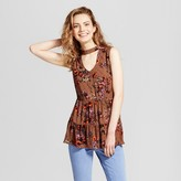 Mossimo Women's Woven Tiered Choker Tank Brown