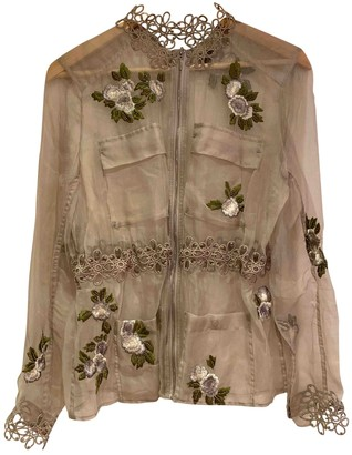 Elie Tahari Ecru Silk Jacket for Women