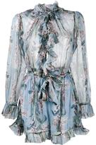 Zimmermann 'Winsome' floral print ruffle playsuit
