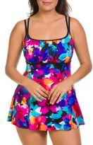 Longitude Floral-Print Swimdress