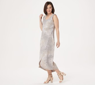 Belle By Kim Gravel Belle by Kim Gravel Slub Knit Tulip Hem Maxi Dress