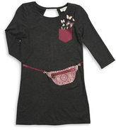 Jessica Simpson Girls 7-16 Purse Graphic Dress