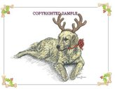 Golden Retriever - Christmas Design by Cindy Farmer