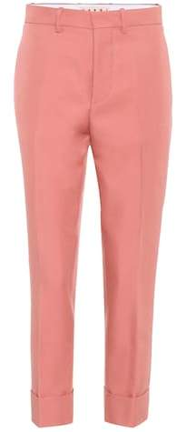 Marni Cropped satin trousers