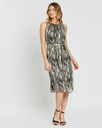 Dorothy Perkins Snake Lurex Sequin Midi Dress