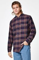 Obey Wyatt Plaid Flannel Long Sleeve Button Up Shirt