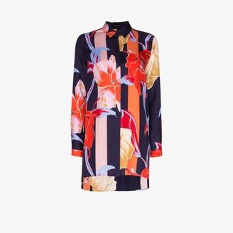 Etro Oversized floral print silk shirt