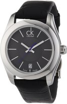Calvin Klein Women's Strive K0K23161 Black Leather Quartz Watch with Dial
