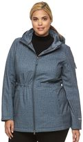 Free Country Plus Size Hooded Anorak Soft Shell Jacket