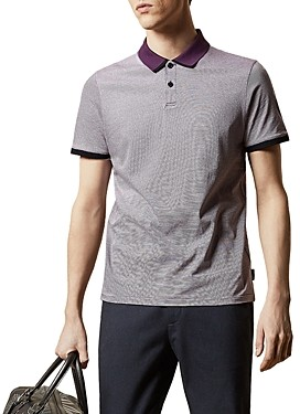 Ted Baker Mmb Caffine Striped Regular Fit Polo Shirt