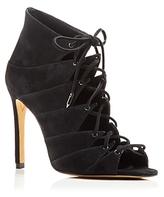 Dolce Vita Hanoa Lace Up Open Toe High Heel Booties - 100% Exclusive