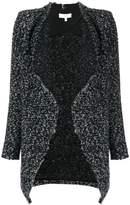 IRO contrast lapel cardi-coat