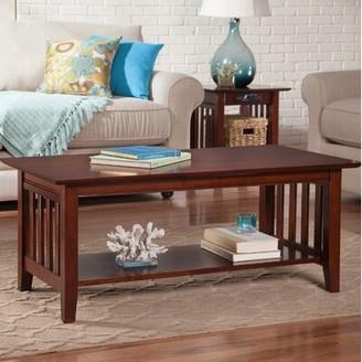 Three Posts Hipple Coffee Table Color: Walnut