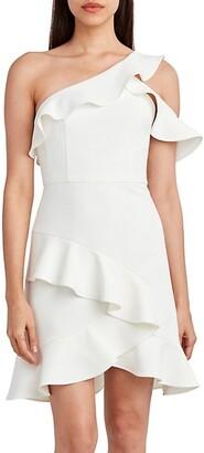 Bonded Crepe Asymmetric Dress