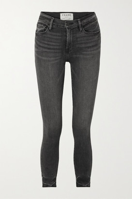 Frame Le High Cropped Skinny Jeans - Dark gray