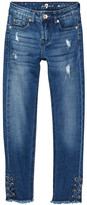 7 For All Mankind The Distressed Skinny Jean (Big Girls)