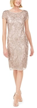 Connected Embellished Soutache Sheath Dress, Created for Macy's