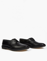 Adieu Black Textured Leather wType 1* Derby Shoes