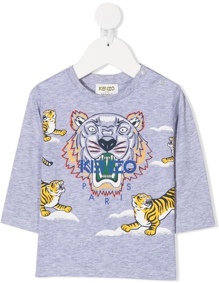 Kenzo Kids Logo Print Long Sleeve T-Shirt