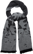 McQ by Alexander McQueen Swallow intarsia-knit wool-blend scarf
