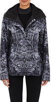 The North Face Women's Abstract-Print Tech-Fabric Hooded Rain Shell-GREY