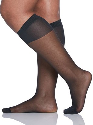 Berkshire Plus Size Curvy Comfy Cuff Compression Knee Highs