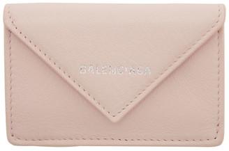 Balenciaga Pink Mini Paper Wallet