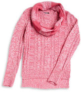 Planet Gold Girls 7-16 Cable Knit Sweater and Scarf Set