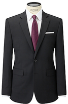 John Lewis Washable Tailored Suit Jacket, Black